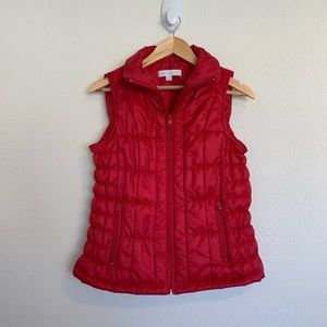 New York & Company Red Vest Size Small
